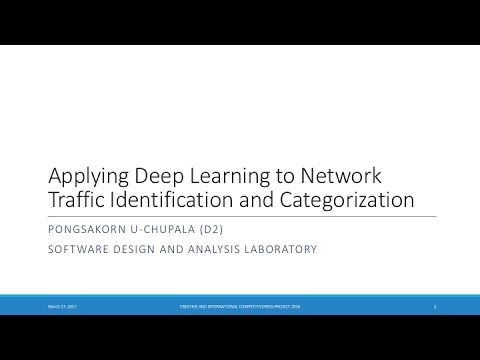 Applying Deep Learning to Network Traffic Identification and Categorization