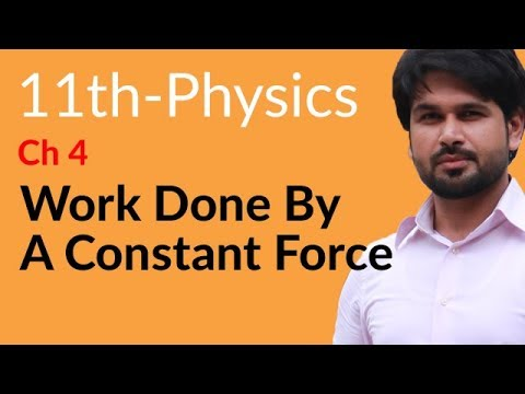 FSc Book 1 Physics Chapter 4 Work And Energy: Work Done By a Constant Force Online Lecutre in Urdu