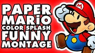 Paper Mario Color Splash Funny Montage!