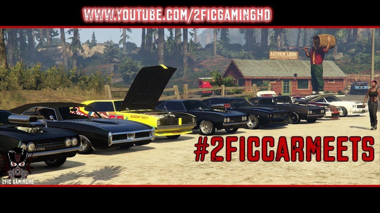 gta 5 muscle car meet live ps4 gta online car show. Black Bedroom Furniture Sets. Home Design Ideas