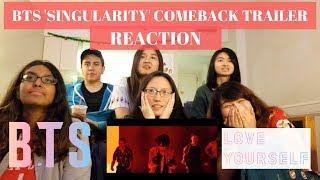 REACTING TO BTS | LOVE YOURSELF | Tear 'Singularity' Comeback Trailer