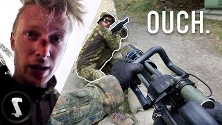 Airsoft CHEATER Gets LIT-UP with 2800 RPM MINIGUN (instant karma)