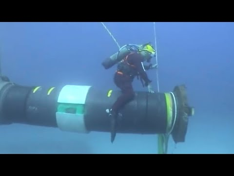 Incredible Modern Pipeline Construction Technology. Ingenious Extreme Subsea Pipe Installation Skill