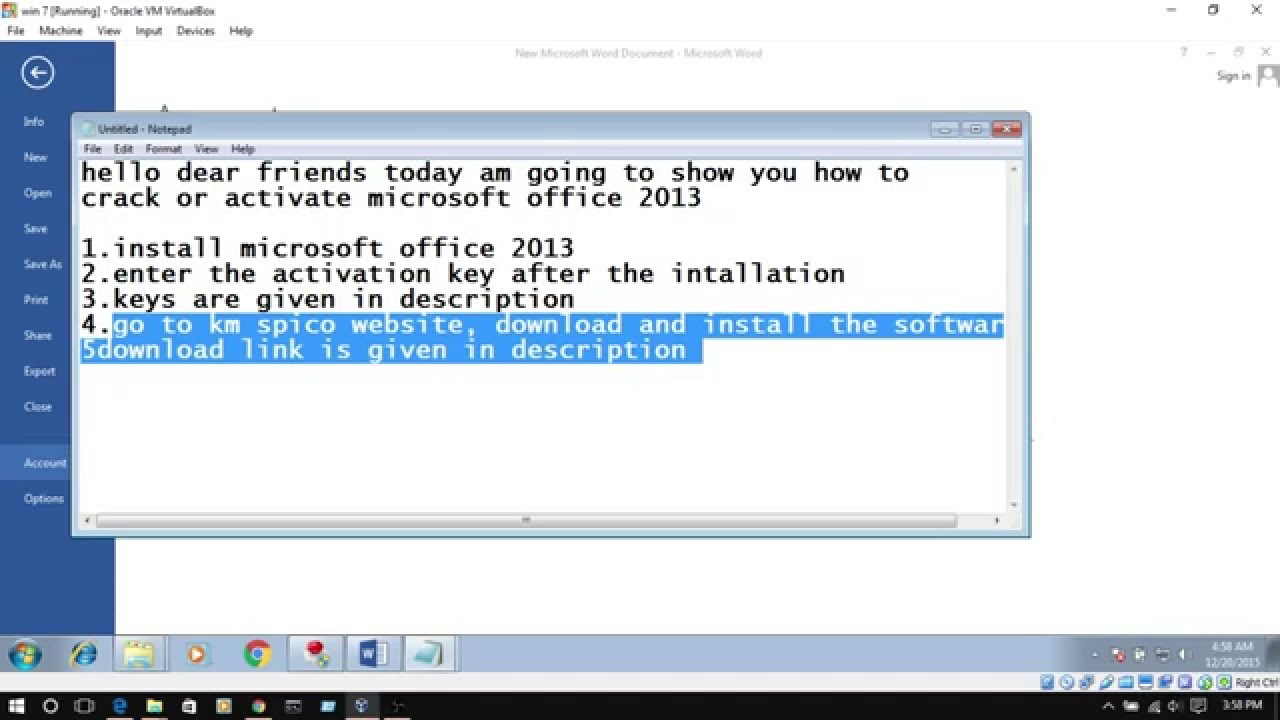 ms office 2013 activation