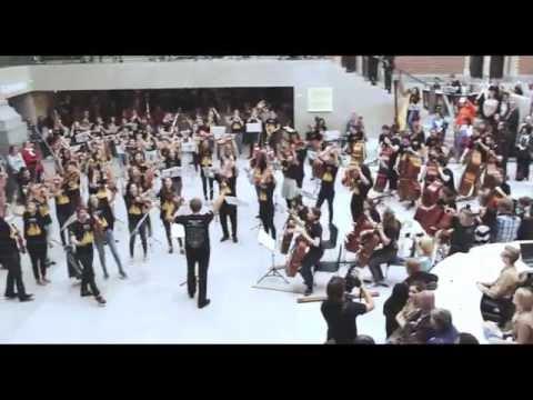 Flashmob by EUYO at the Rijksmuseum