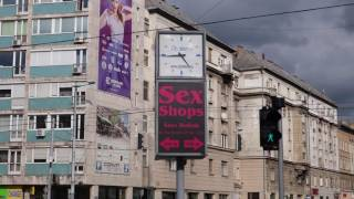Sex Shops in the Center of Budapest, Hungary