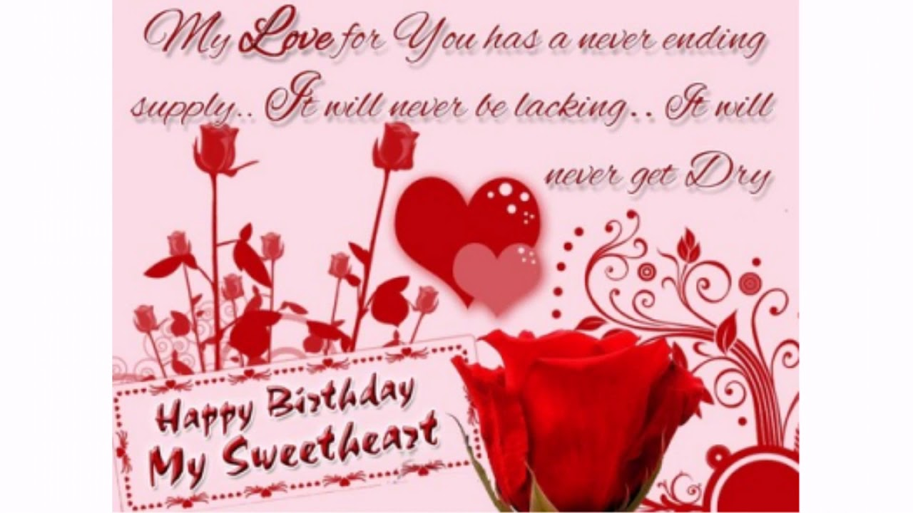 happy birthday sweetheart sayings and quotes wishesgreeting