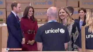 Frederik & Mary, William & Kate visit UNICEF emergency supply centre  (2011)