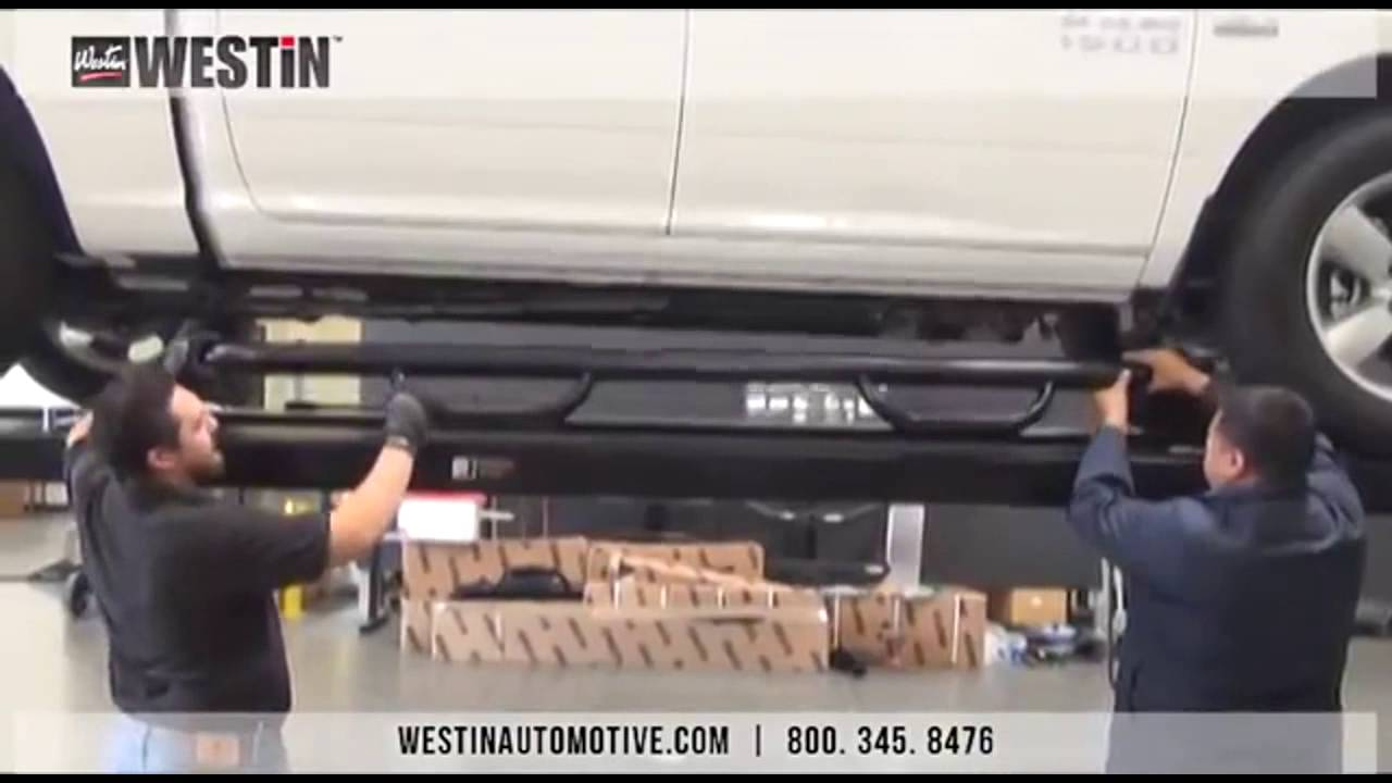 Ram 1500 Running Boards >> Westin | Installation of Westin GenX Step bars (2014 Dodge Ram 1500 Crew Cab) - YouTube