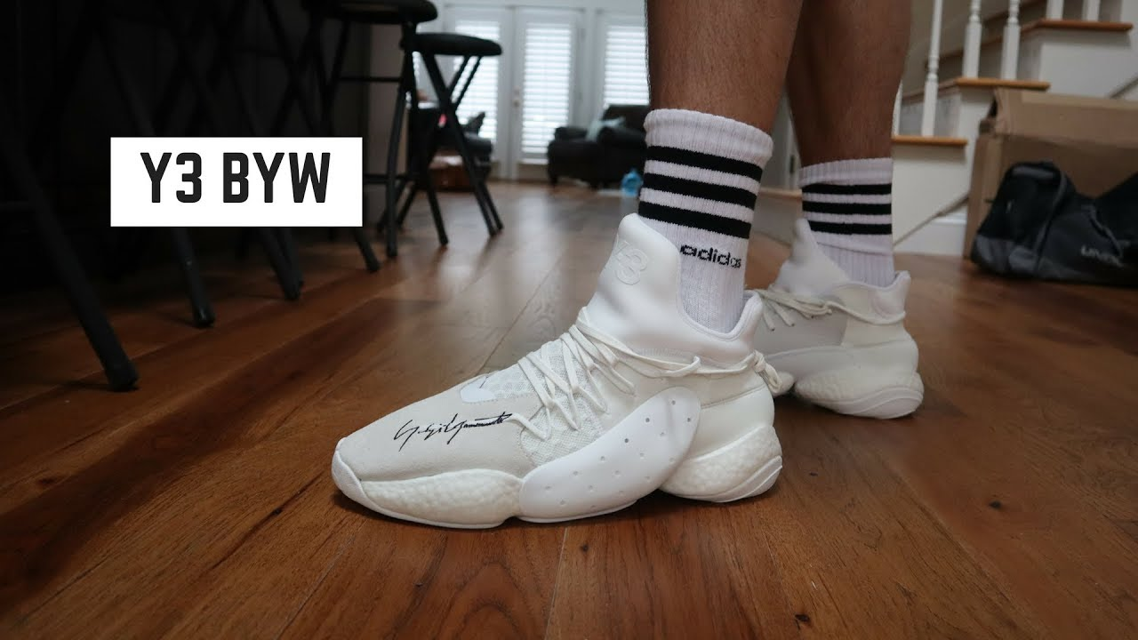 6a3e8cc4f9654 Y3 BYW BBALL REVIEW + ON FOOT!! - YouTube