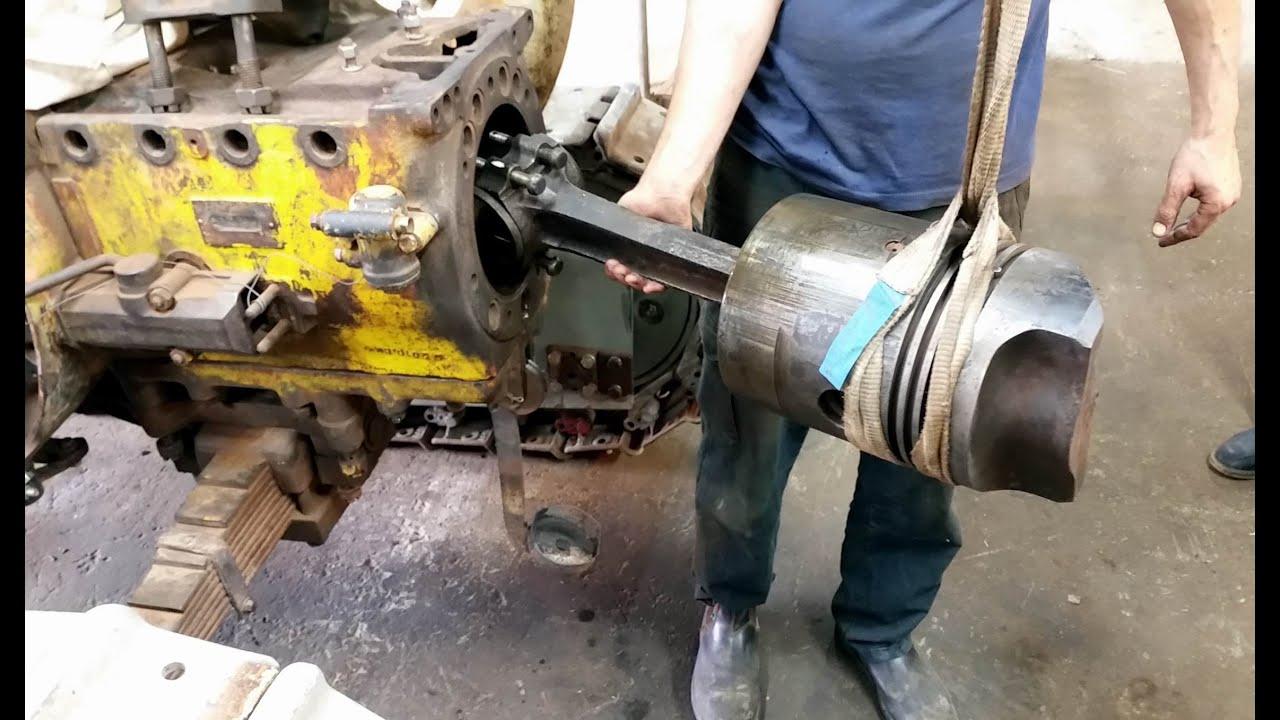 lanz bulldog stuck piston 01-1 - YouTube