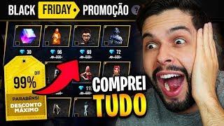 COMPREI TUDO COM 90% OFF NA BLACK FRIDAY ESPECIAL DO FREE FIRE!!