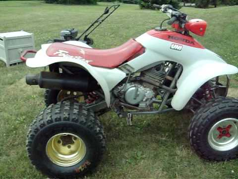 honda 250x cold start/rev - YouTube