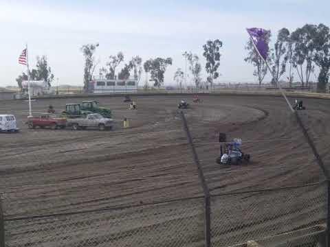 Lemoore Raceway KOFC Rd8 6/9/18 Jr Sprint Hot Laps Dalton