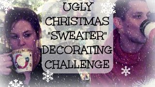 ugly christmas sweater decorating challenge ft scrilla cam