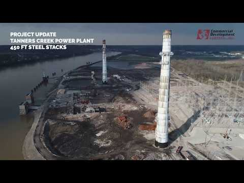 Project Update: Tanners Creek Power Plant Steel Stacks