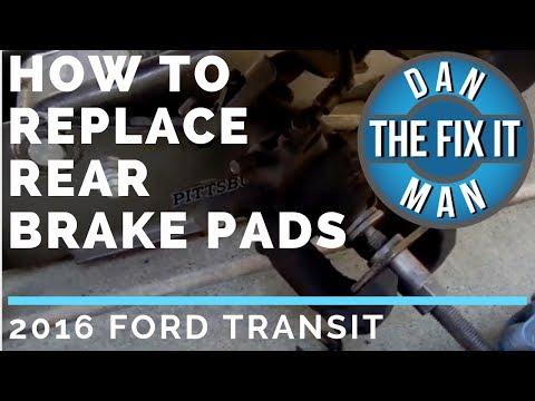 2016 Ford Transit – How to Replace Rear Brake Pads – DIY