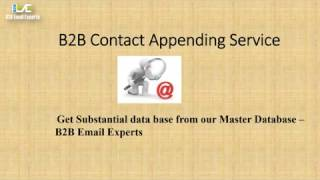 b2b contact appending b2b email experts