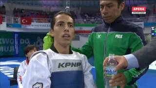 Yun-Jo Jeong KOR vs. Carlos Navarro MEX. Taekwondo World Championship 2017. Semifinal Men 58 kg.