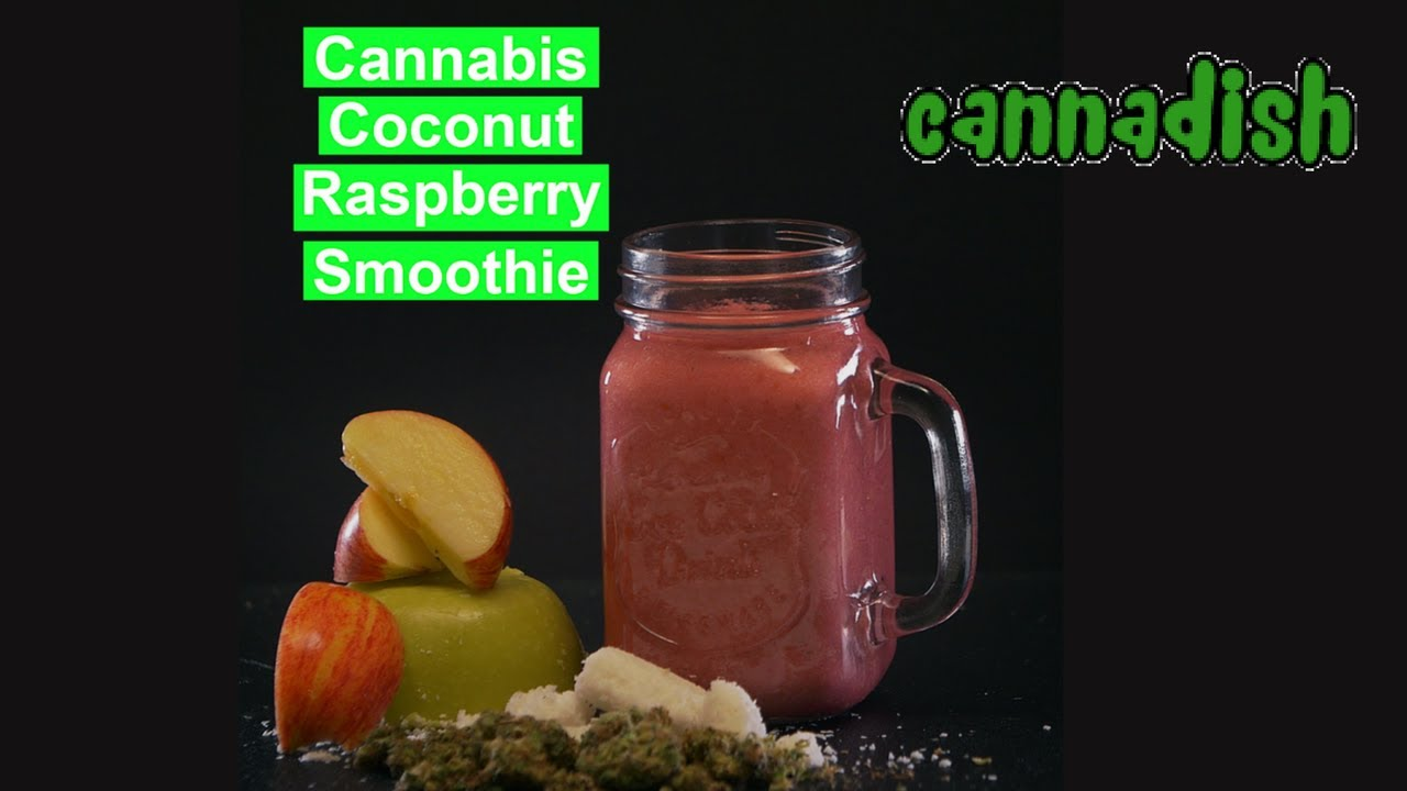 Marijuana Coconut Raspberry smoothie