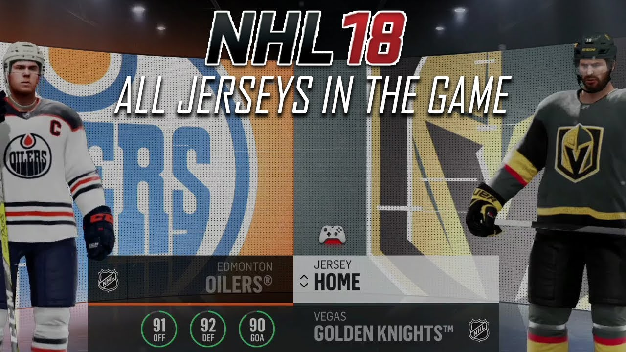 NHL 18 - All Jerseys In The Game - YouTube 2601bc7ea0f