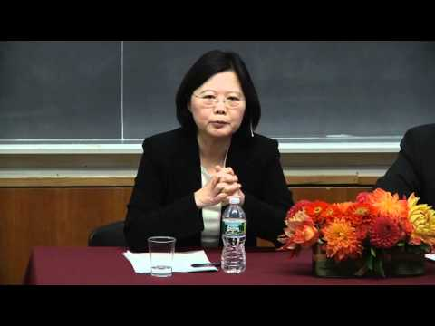"Tsai Ing-wen, ""Taiwan: Policy Challenges, Choices, and Leadership in the Next Decade"" -- Q & A"