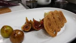 Le dessert figue de Jessica Préalpato, restaurant Alain Ducasse au Plaza Athénée