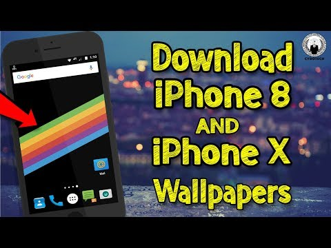 How To Download iPhone 8 and iPhone X wallpapers | Official Video