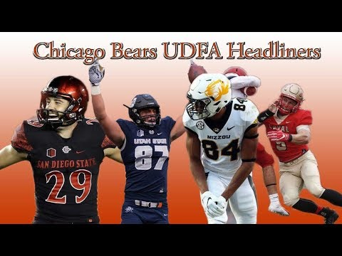 Chicago Bears Sign 21 Undrafted Free agents