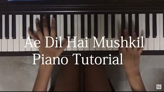 ae dil hai mushkil piano tutorial part 1