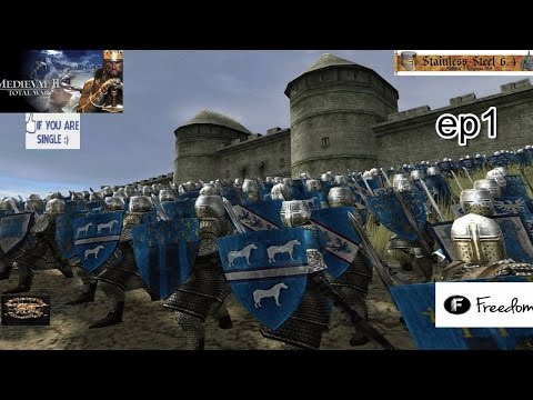Stainless Steel 6.4 (M2TW Mod)  Kingdom of France - EP 1 HD 1080p