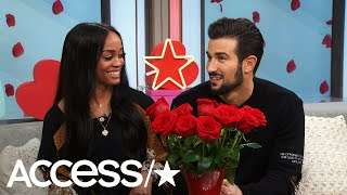'The Bachelorette's' Rachel Lindsay & Bryan Abasolo Take The Rose Roulette Challenge | Access