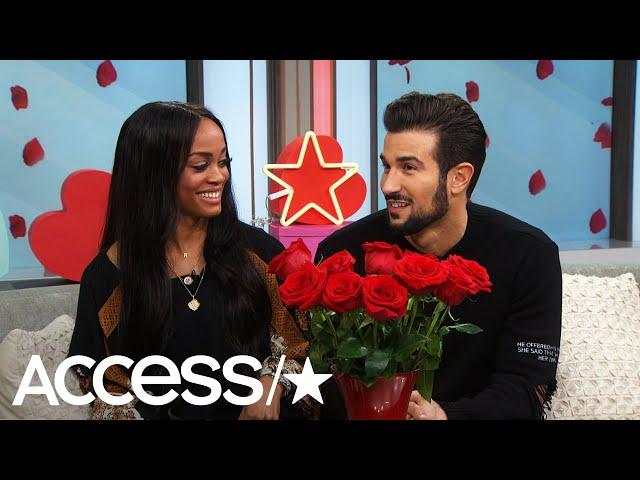 \'The Bachelorette\'s\' Rachel Lindsay & Bryan Abasolo Take The Rose Roulette Challenge | Access