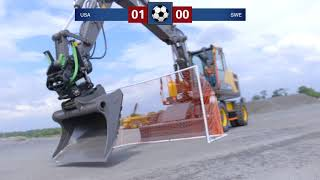 Video still for When Volvo Construction Equipment Plays Soccer Things End Poorly