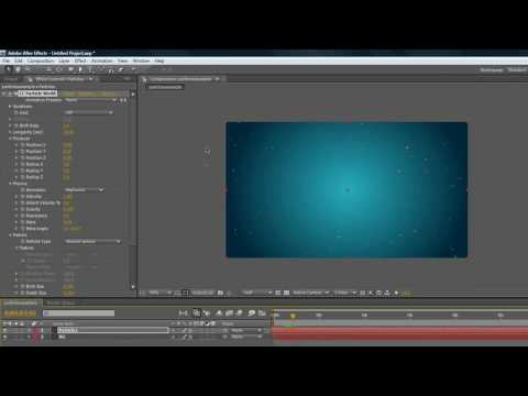 After Effects ~ Basic Particles Tutorial!!