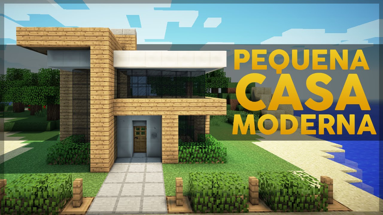 Minecraft construindo uma pequena casa moderna 3 youtube for Casas modernas minecraft faciles