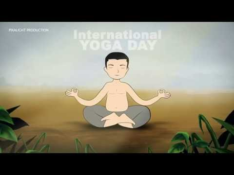 International YOGA Day 2016 Cartoon