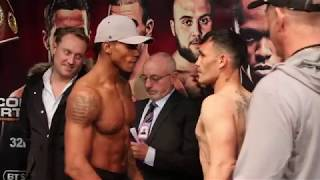 LIONS IN THE CAMP! ANTHONY YARDE v WALTER GABRIEL SEQUEIRA *FULL & OFFICIAL* WEIGH-IN / BRENTWOOD