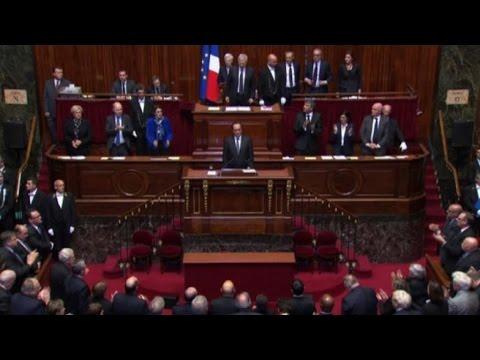hollande viva la francia e il parlamento canta la marsigliese youtube