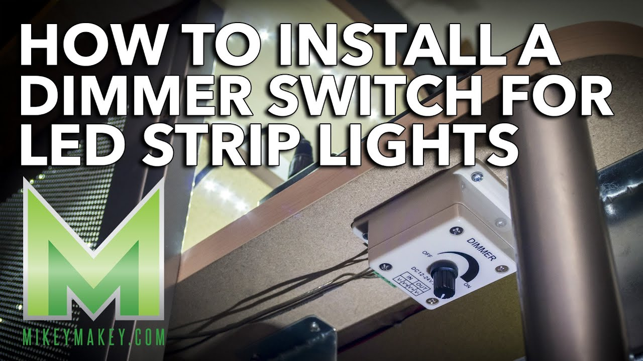 How to Install a Dimmer Switch for LED Strip Lights  My Desk Lighting Project Update!  YouTube