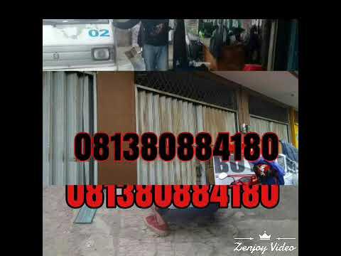 081285358833 / Rolling door folding gate Jakarta - YouTube