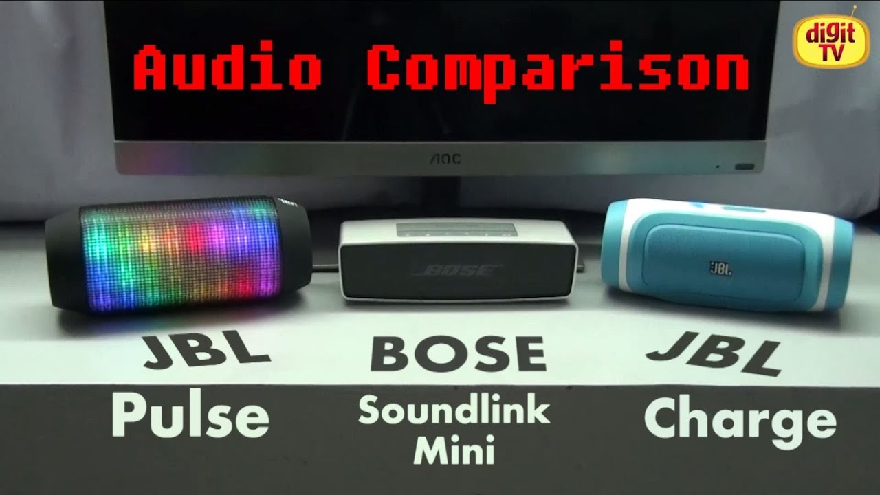 Bluetooth Speakers Comparison - JBL Pulse vs Bose