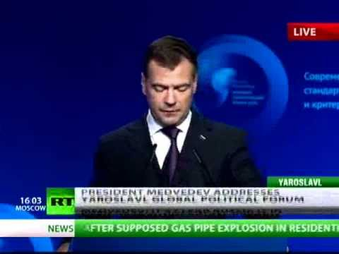 'People starting to think for themselves in Russia' - Medvedev's address at Yaroslavl Forum
