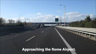 Van ride to Rome Airport from Cruise Port Civitavecchia