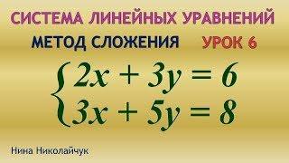 Система линейных уравнений. Метод сложения. Двойное сложение.  Урок 6