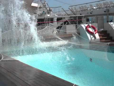 Cruise Ship Pool Empties During Rough Seas YouTube - Cruise ship in rough waters