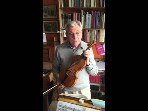 Early Music Days 2016 - Simon Standage Historical violin master course