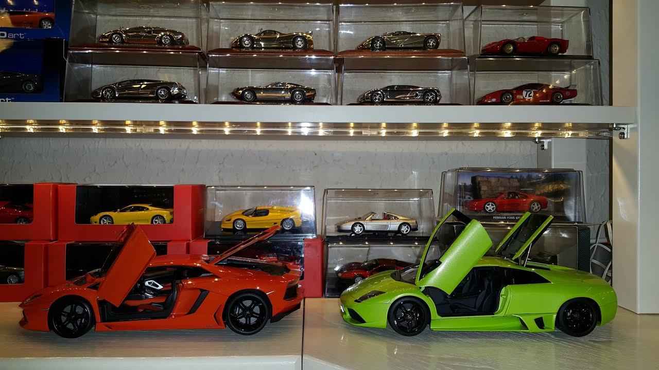 Lamborghini Aventador Fx Welly Vs Murcielago Lp 640 Autoart 1 18 Youtube