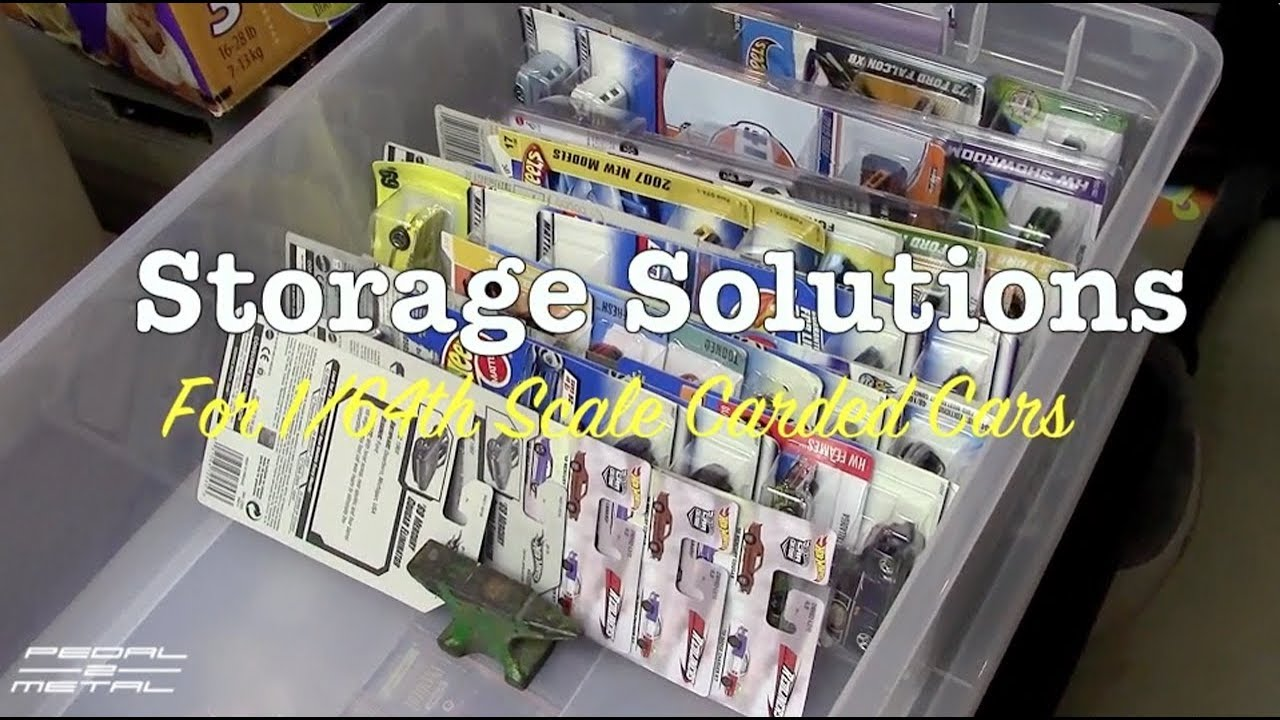 Storage Solutions For Carded 1/64 DieCast Toy Cars | Sterilite #1755  Container