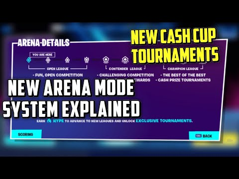 Fortnite Arena Mode System Explained & New Cash Tournaments Are Here! (Fortnite Competitive)